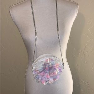 Beautiful floral purse with satin inside